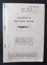 brian george william smith  RAOC release book  service 1948- 1950