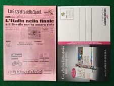 Cartolina ITALIA IN FINALE MEXICO 1970 , Gazzetta Pubblicita' Card 15x10,5 cm