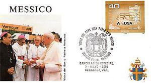003- FDC VATICAN VISITE PAPE JEAN PAUL II  AU  MEXIQUE 1990