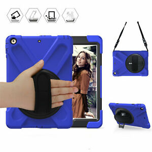 Blue Case Shockproof For Apple iPad 9.7'' 2017 A1822 A1823 Cover Stand Kids Safe