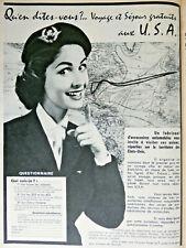 PUBLICITÉ DE PRESSE 1956 FABRICANT D'ACCESSOIRES AUTOMOBILES AU USA - 203 - 403