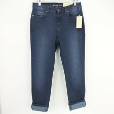 Michael Kors Womens Size 6 Izzy Skinny Embelished Cuff Cropped Jeans NWT