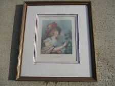 Automn Engraving by Francesco Bartolozzi 1727-1815 Painted by Wheatley