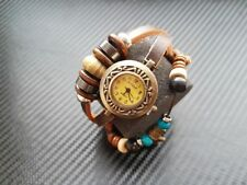 Artisan Beads Lady Brown leather Vintage Style Watch Gorgeous  Christmas Present