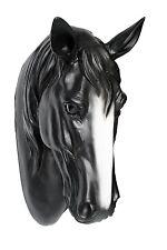 Dekofigur Pferdekopf Büste Pferd schwarz Black Magic Tierdeko Hengst Stute