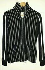 Strickjacke schwarz weiß MARC CAIN 38 gestreift Streifen Jacke