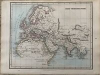 1853 Ancient World Original Hand Coloured Antique Map by Alexander Findlay