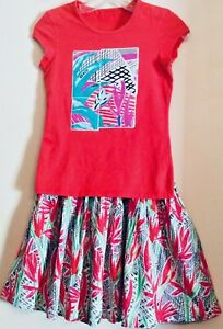 KENZO* Paris YOUTH Colorful Top (12) & Skirt (16) Graphic Print, Pre-owned.
