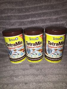 TetraMin Tropical Flakes 2.2 Ounces, Nutritionally Balanced Fish Food - LOT OF 3