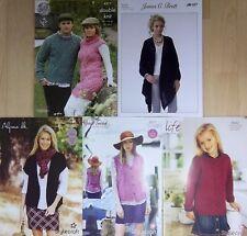 5 x dk patterns :girls womens mens  knitting patterns pack 14