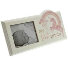 Baby First Picture Scan Wooden Photo Frame Unicorn Design Photos Display Plaque