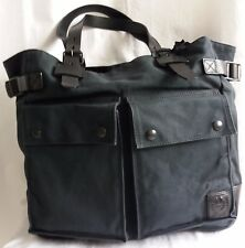 ✔ Belstaff Tasche Canvas/Leder Pinner Tote Man Bag Black