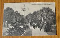 CARTOLINA PARMA SALSOMAGGIORE VIALE ROMAGNOSI RARA VIAGGIATA 1916 SUBALPINA QQ