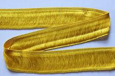 2 m Fransenborte, gelb, Breite: ca. 47 mm, Material: 100 % Viskose
