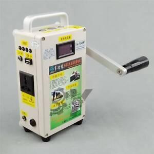 1PCS 220V Car Emergency start phone Charger portable Hand Crank Generator New