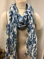 NEW Gap Womens Mix Stripe or Floral Blue Hot Pink White Scarf Shawl Wrap Fringe