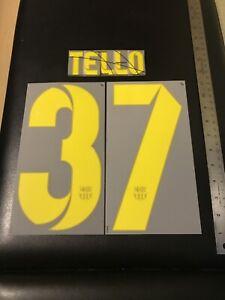 13/14 BARCELONA CRISTIAN TELLO #37 HOME/THIRD JERSEY AUTHENTIC NAMESET UNISPORT