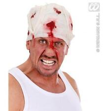 Blood Stained Head Bandage Bloody Wound Patient Halloween Fancy Dress Accessory
