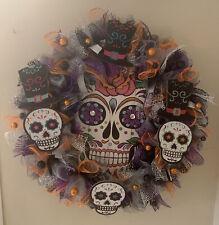 Handmade Halloween Wreath & Door Decor