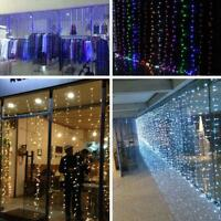 3M x 3M 300 LED Fairy String Light Curtain Christmas Lights Xmas Wedding Lights