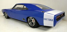 Greenlight 1/18 Scale Custom 1969 Dodge Charger Daytona Blue / White model car