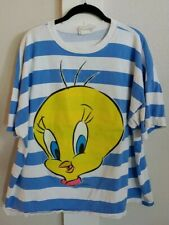 Vintage 90s Tweety Bird Looney Tunes Shirt Size Large Crop