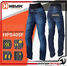 Hevik Jeans Stone HPS405F Tg. 50 - Pantalone Moto Tecnico Donna Denim Blu
