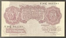 Bank of England. Ten Shillings. B251. K.O. Peppiatt. 1940. Y30E 861581. (BN37)