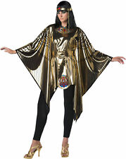 Cleopatra Metallic Gold Poncho Set Womens Adult Halloween Costume One Size