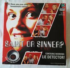 SAINT OR SINNER ADULT BOARD GAME with WORKING LIE DERECTOR [2001, Hasbro]
