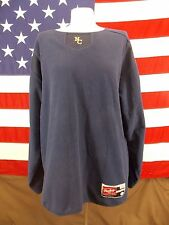 Rawling Sweater Long Sleeve North Carolina Navy Blue Fleece Men's Size Large