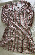 Lanz of Salzburg NWT Women's Floral Stripe 100% Cotton Long Flannel Nightgown S