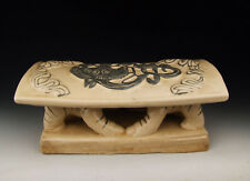 Chinese Antique Cizhou Ware Tow Boys wrestling Sumo Porcelain Head-rest