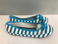 BNWT Ladies Older girl Sz 10 Rivers Doghouse Blue White stripe Canvas Shoes