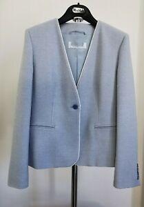 RRP €699✨MAX MARA  Turquoise WOOL&SILK Knit Blazer  USA8_ GB10_ IT42_ FR40_ DE38