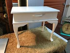 Vintage 1950's Australian Made White Painted Pine Bedside Cabinet Drawer
