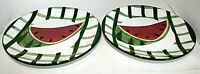 VINTAGE WATERMELON THEME CERAMIC PLATES / ACCESSORIES-HAND PAINTED-COLLECTIBLE