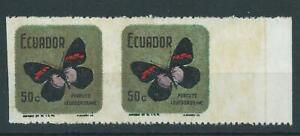 Ecuador,1969,Butterfly,error perf.MNH