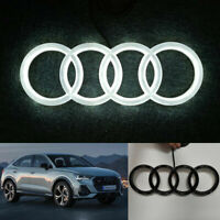 AUDI LED GLOSSY BLACK BADGE EMBLEM BLACK EDITION LIGHT FRONT GRILL LOGO RINGS