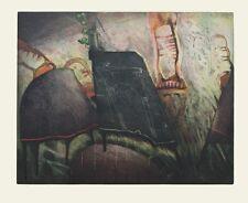 """Reinhard Zado, """"Ballgesellschaft"""" 1987 Radierung Probe, unsigniert"""