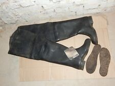 Soviet Russian Army protectiv Elongated rubber boots USSR vintage fishing boots