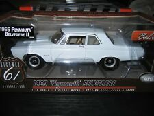 Highway 61 1965 Plymouth Belvedere II in White.1:18 Scale Diecast Part #50596