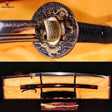 Japanese KATANA T10 Steel Clay Tempered Sword Battle Sharp Heat Treated Blade