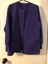 Women's Uniform,Scrubs ,Light Weight Jacket Purple Unbranded, Snaps