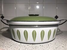 Catherineholm Mid Century Dutch Oven Casserole Green White Lotus