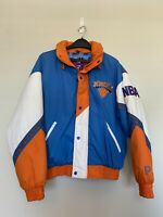Vintage New York Knicks Pro Player Mens Large Puffer Puffy Winter Jacket NBA EUC