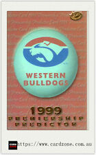 1999 Select AFL Trading Cards Holofoil Premiership Predictor Card PC16W.Bulldogs