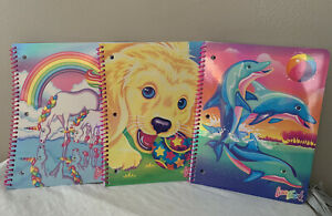 Lisa Frank Happy 30th Birthday Edition Notebooks NEW Set of all 3 designs!