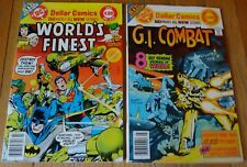 DOLLAR COMIC 80 PAGE GIANTS  WORLD'S FINEST #245 9.0, GI COMBAT #201 5.0
