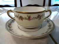 Haviland & Co Limoges France Bouillon Cup and Saucer